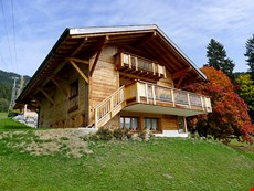 Photo of Three Story Suisse Villa Surrounded by Trees and Meadows
