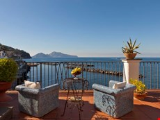 Photo 2 of Stunning Sorrento Coast apartment with views of sea and Capri within walking distance to private beach, small seaside village