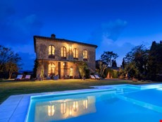 Photo of Tuscan farmhouse with pool a rural retreat in the Crete Senesi near Siena